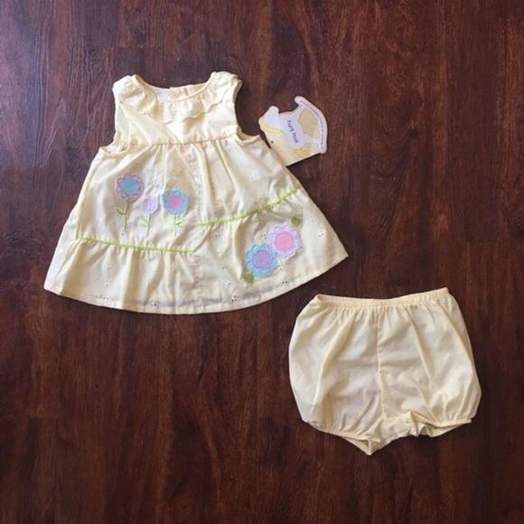 cf0205c2ace5 Little Bitty Dresses | 12m Baby Girls 2pc Yellow Eyelet Sundress ...